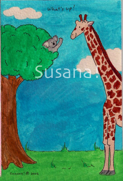 koala_in_a_tree_saying_hi_to_giraffe_whats_up_watermark