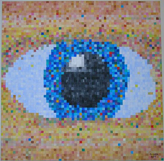patience_eye_pixels_oil_painting_susana_schroeder